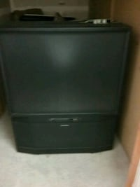 black CRT TV with remote Tacoma, 98444