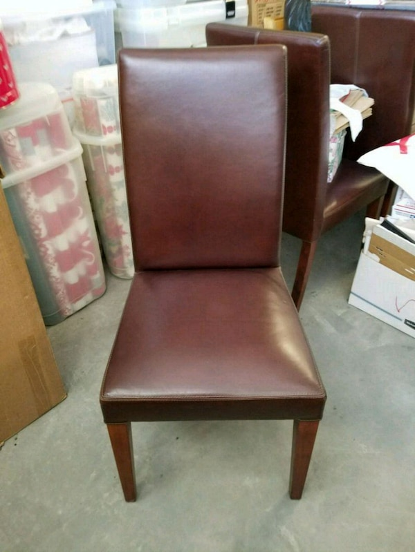 Swell 4 Pottery Barn Grayson Leather Dining Chairs Caraccident5 Cool Chair Designs And Ideas Caraccident5Info