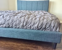 New Modern Blue Queen Bed  Silver Spring