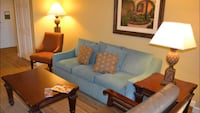 blue fabric 3-seat sofa Conway, 29526
