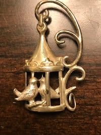 Vintage Sterling Silver Birdcage Pin