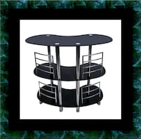 12911 bar glass table Columbia