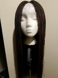 Long Braided wig with closure  56 km