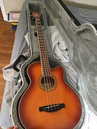 Ibanez acoustic electric bass guitar with hard case Boston, 02134