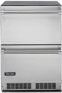 Viking Professional Series 24 Inch Undercounter Refrigerator Drawers Garland, 75041