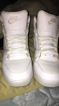 Pair of white air jordan basketball shoes Lafayette, 47905