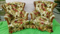 white and red floral print sofa chair Perris, 92570