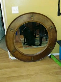 Antique Leather Framed Mirror Orlando, 32825
