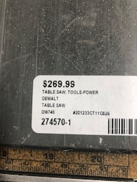 TableSaw , ToolsPower .. Dewalt Table Saw DW745 .. Negotiable. Baltimore, 21217