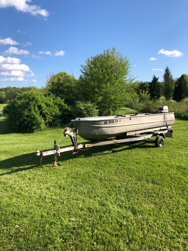 Used 13 Ft. Aluminum Boat, Trailer, and Motor for sale in ...