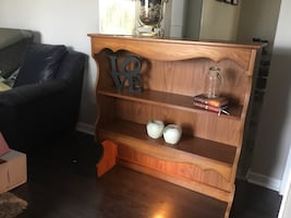 Desk or dresser shelving unit with Light.Clean/good condition.Deliver
