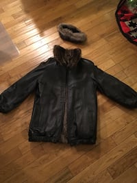 Fur coat,  reversible to leather.