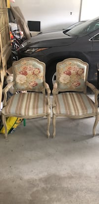 two white-and-brown floral padded armchairs Markham, L6C 1Y4