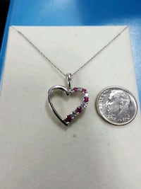 10k white gold heart necklace East Los Angeles, 90022