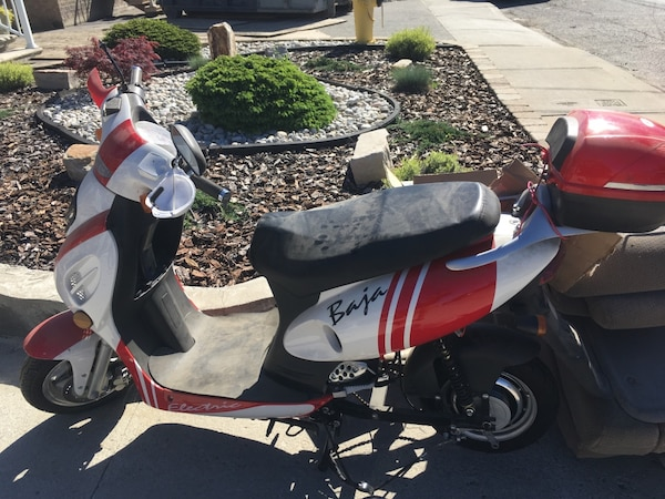 Red And White Baja Electric Scooter