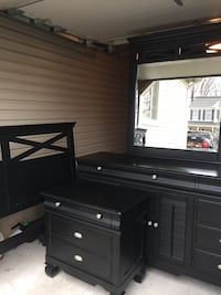 Bedroom furniture headboard, footboard, bed frame, nightstand and dresser with mirror  Baltimore, 21220