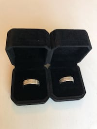 Wedding rings in White Gold and Diamonds Los Angeles