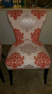 2 white and red floral padded chair Vaughan, L6A 3Y8