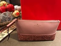 Kate Spade - pink leather make up case - brand new Toronto, M1M 2G3