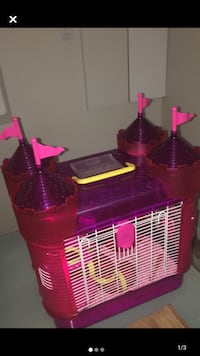 Small Animal Pink Castle Cage!