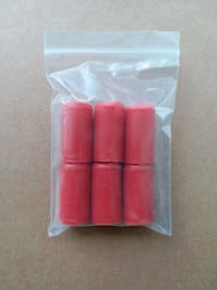 Six 10mm Vacuum Caps Red Silicone NEW Palmdale