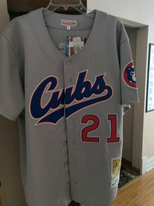 buy online 666a5 7c4e5 Chicago Cubs Mitchell & Ness Throwback Jersey