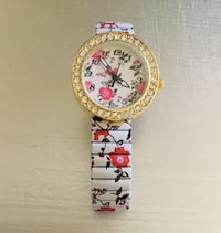 Beautiful FLORAL 35 High Quality CRYSTAL - Expansion Watch