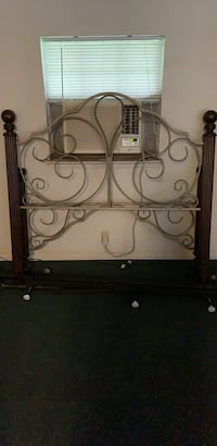 Wrought iron cannon ball queen size bed frame