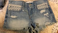 Blue denim distressed short Shorts Hollister Jeans w26 3 36 Uslar, 37170
