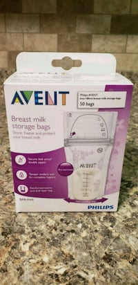 Philips Avent Breast Milk Storage Bags, 6oz, 50 ct Chester, 10918