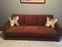 Used Serta Dream Thomas Convertible Sofa Chocolate Futon For Sale