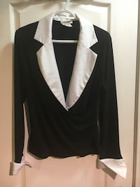 black and white blazer shirt