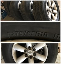 "18"" rims & tires off a Nissan Titan  Sierra Vista, 85635"