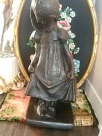 Antique statue, metal and bronze, 22.5 inches Laval, H7G 1G2