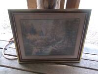 brown wooden framed painting of trees La Plata, 20646