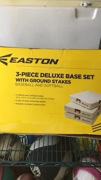 Brand new, still in the box and never used. Easton 3-piece deluxe baseball and softball bases with stakes. Brand new was $60 Daly City, 94015