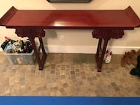 Pier One Red Asian Console Table Surrey, V3Z 0E5