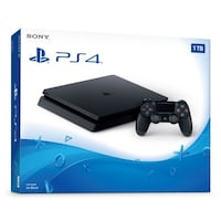 Black SONY PS4 slim with controller box Mississauga, L5M 6B4