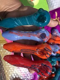 Clearance -thick colorful glass spoons, chillums, bubblers