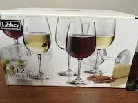 three clear glass candle holders Maple Ridge, V2W 2A9
