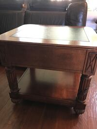 Brown wooden drawer nightstand/end table some wear on top but otherwise good condition  Jupiter, 33458