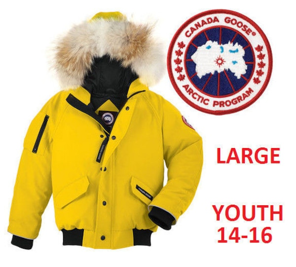 91812bc83 Used NEW CANADA GOOSE RUNDLE BOMBER JACKET YOUTH LARGE (14-16) for ...