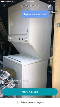 white stackable washer and dryer Evans, 80620