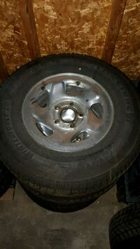 Firestone wintrerforce truck snow tires and rims