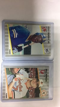 two baseball player trading cards