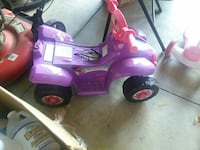 purple ride on toy