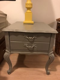 """Two matching shabby chic side tables grey 27"""" deep x 21.5"""" wide x 21.5"""" high Toronto, M3J 0G7"""