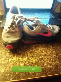 pair of gray-and-pink Nike running shoes Elmira, 14901