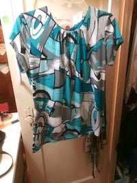 teal, white, and black sleeveless dress Macon, 31206