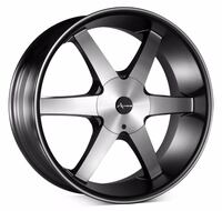 "24"" Armano 507 Black Machine Wheels 
